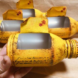 リメ缶 yellow 多肉植物の寄せ植えに!(その他)