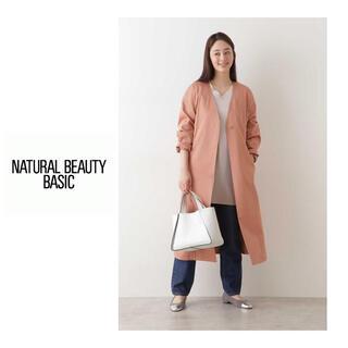 ナチュラルビューティーベーシック(NATURAL BEAUTY BASIC)のNATURAL BEAUTY BASIC カラーレスフォルムコート PK M (トレンチコート)