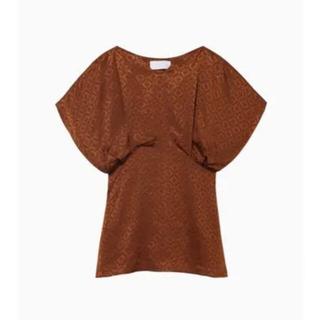 マメ(mame)の【mame】Draped Sleeves Komon Tops - brown(その他)