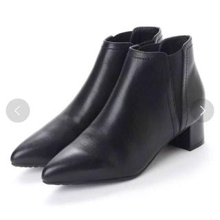 イーボル(EVOL)の本革4.5cmヒールサイドゴアブーツ(ブーツ)