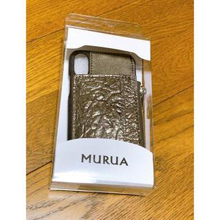 ムルーア(MURUA)のmurua 未使用 コインケース付iPhone X/XSケース(iPhoneケース)