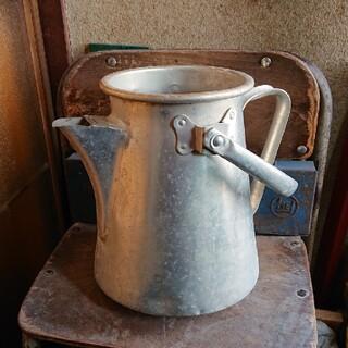 アンティーク アルミ製 ミルク缶(置物)