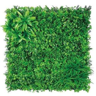ウォールグリーン 100×100cm グリーンマット 壁面緑化 フェイクグリーン(ドライフラワー)