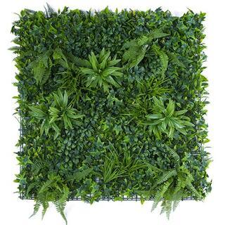 ウォールグリーン 1m×1m グリーンシート 壁面装飾 緑化 アーティフィシャル(ドライフラワー)