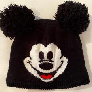 ディズニー(Disney)のディズニー ミッキー ポンポン ニット帽 ビーニー(ニット帽/ビーニー)