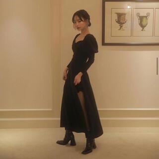 バブルス(Bubbles)のmelt the lady ビスチェロングドレス ブラック(ロングワンピース/マキシワンピース)