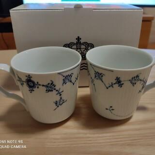 ロイヤルコペンハーゲン(ROYAL COPENHAGEN)の【新品未使用】ロイヤルコペンハーゲン ペアカップ(グラス/カップ)