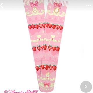 アンジェリックプリティー(Angelic Pretty)のMelty Berry Princessオーバーニー ピンク ソックス 靴下(ソックス)