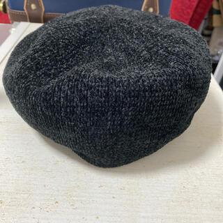 アースミュージックアンドエコロジー(earth music & ecology)のearth モールヤーンベレー ブラック(ハンチング/ベレー帽)