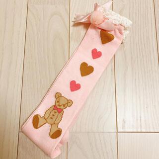 アンジェリックプリティー(Angelic Pretty)のAngelicPretty くまちゃんハイソックス ピンク 靴下 ソックス(ソックス)