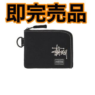 ステューシー(STUSSY)の即完品 STUSSY × PORTER wallet 財布 ブラック 新品未使用(折り財布)