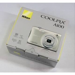 Nikon - 新品 Nikon COOLPIX A100 シルバー ケース付 1年間保証