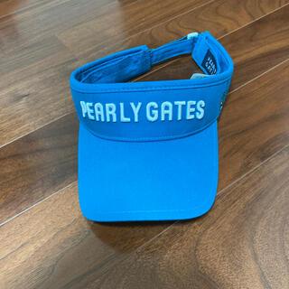 パーリーゲイツ(PEARLY GATES)のパーリーゲイツ ブルーグリーンサンバイザー(サンバイザー)