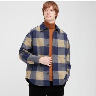 送料無料【新品L】ユニクロ オーバーシャツジャケット