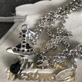 ヴィヴィアンウエストウッド(Vivienne Westwood)の新品 クリスタルネックレス ブラック(ネックレス)