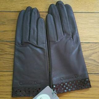 クリスチャンディオール(Christian Dior)の11日午前中値下げ Dior 牛革 手袋(手袋)