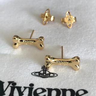 ヴィヴィアンウエストウッド(Vivienne Westwood)の骨ピアス ゴールド 刻印あり(ピアス)