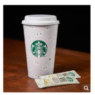 スターバックスコーヒー(Starbucks Coffee)のスタバ ハロウィン 白猫  ※空き缶のみ(小物入れ)