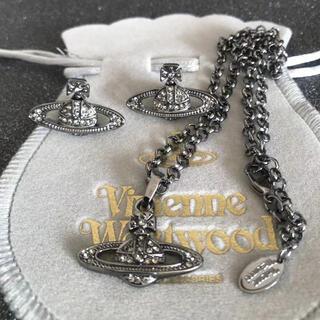 ヴィヴィアンウエストウッド(Vivienne Westwood)の新品 ネックレスピアスセット ガンメタ(ネックレス)