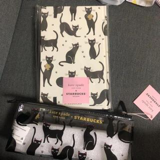 スターバックスコーヒー(Starbucks Coffee)のKatespade x Starbucks 手帳とペンケ-スセット(ペンケース/筆箱)