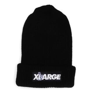 エクストララージ(XLARGE)のxlarge fr2 コラボ ビーニー 黒(ニット帽/ビーニー)