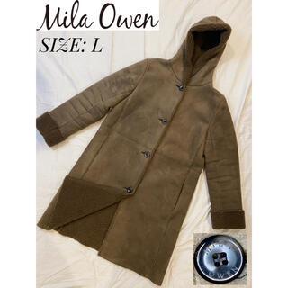 Mila Owen - 【Mila Owen】ムートンコート ロングコート レディース M 深緑