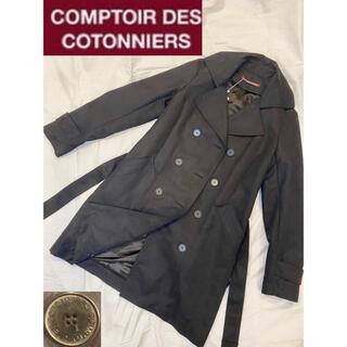 コントワーデコトニエ(Comptoir des cotonniers)の【コントワーデコトニエ】トレンチコート ロングコート ブラック 黒 レディース(トレンチコート)