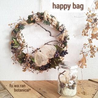 *happybag*スカシホオズキ リース&ドライボトル(ドライフラワー)