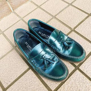 ハルタ(HARUTA)のHARUTA カジュアルタッセルローファー グリーン(ローファー/革靴)