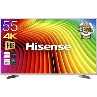 SHARP - ハイセンス 55V型 液晶 テレビ HJ55N5000 4K 外付けHDD裏番組