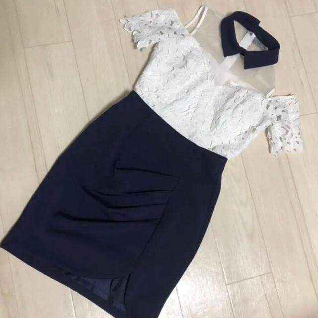 an(アン)のanツーピースミニドレス ローブドフルール 系 レディースのフォーマル/ドレス(ミニドレス)の商品写真