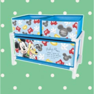 ディズニー(Disney)のDisney ミッキー 2段収納ラック(ケース/ボックス)