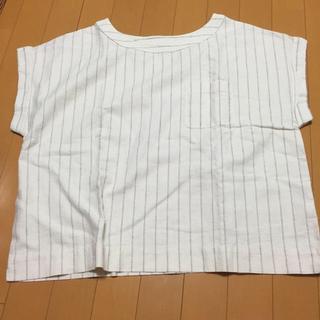 ジーユー(GU)のGU リネンプルオーバー(シャツ/ブラウス(半袖/袖なし))