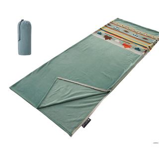 ロゴス(LOGOS)のロゴス LOGOS フリースシュラフ ターコイズナバホ 72600830(寝袋/寝具)