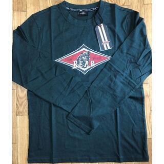 ベアー(Bear USA)のベアー・サーフボード ジャストロゴ ロングTシャツ M【ダークグリーン】(Tシャツ/カットソー(七分/長袖))