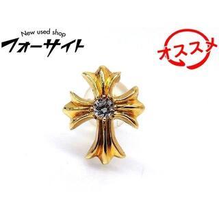 クロムハーツ(Chrome Hearts)の1番 クロムハーツ ピアス ■ 22k イエローゴールド CHクロス 2(ピアス(片耳用))
