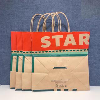 スターバックスコーヒー(Starbucks Coffee)のスターバックス クリスマス限定 ショップ袋 大きいサイズ 4枚 ショッパー 紙袋(ショップ袋)