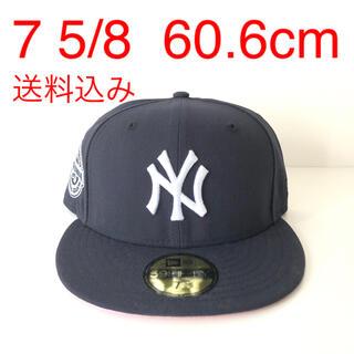 ニューエラー(NEW ERA)のNew Era ツバ裏ピンク Cap 5/8 ニューエラ ヤンキース キャップ(キャップ)