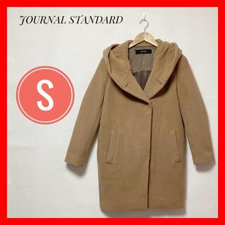 JOURNAL STANDARD - ✳ジャーナルスタンダード✨コート ノーカラー レディース✨S ブラウン フード付