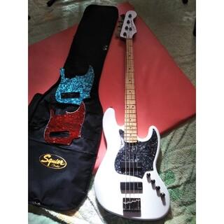 フェンダー(Fender)のおまけ付きスクワイヤーコンテンポラリーアクティブジャズベース マッチングヘッド(エレキベース)