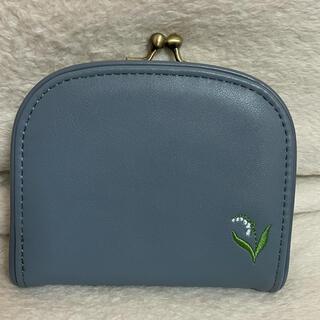 スタディオクリップ(STUDIO CLIP)のstudio CLIP フラワー刺繍がま口ウォレット(財布)