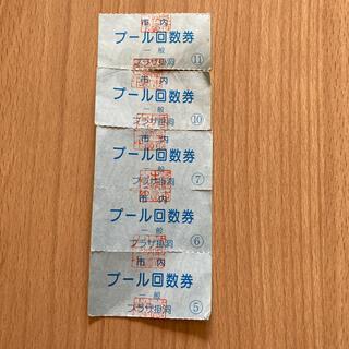 岐阜 プラザ掛洞 プール券5枚(プール)