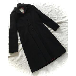 シビラ(Sybilla)の新品同様シビラ 黒ブラック 高級アンゴラ羊毛ロングコート丈100 M 12万円(ロングコート)