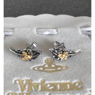 ヴィヴィアンウエストウッド(Vivienne Westwood)の新品 葉ピアス ゴールド✖︎ガンメタ 刻印あり(ピアス)