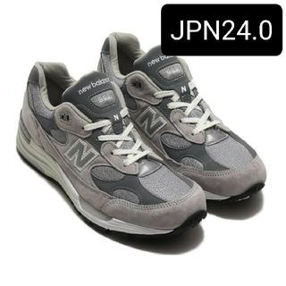 ニューバランス(New Balance)の24.0 new balance m992gr gray grey グレー(スニーカー)