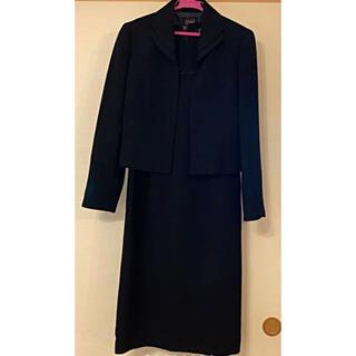 シマムラ(しまむら)の【美品】ブラックフォーマル 喪服 スーツ 9号 礼服 ワンピース セット(礼服/喪服)