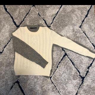 ブランバスク(blanc basque)のケーブルニット デザインニット(ニット/セーター)