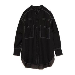 ファーファー(fur fur)のFUR FUR / シアーバンドカラーシャツ(シャツ/ブラウス(半袖/袖なし))