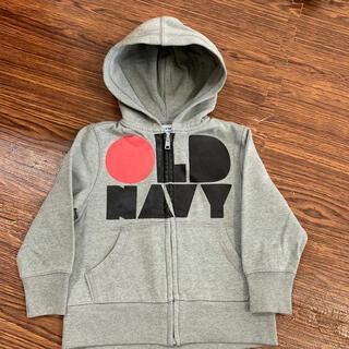 オールドネイビー(Old Navy)のオールドネイビー 裏起毛 パーカー 2T  グレー(ジャケット/上着)