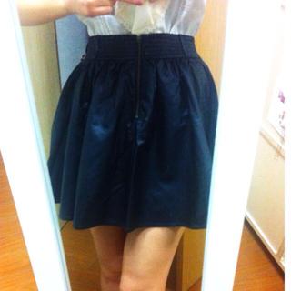 ローリーズファーム(LOWRYS FARM)の黒レザースカート☆Aライン☆(ミニスカート)